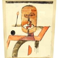 L'homme est la bouche du seigneur, 1918 (plume, encre et aquarelle)