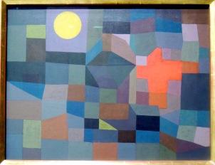 Feu à la pleine lune, 1933 (aquarelle, tempera, colle à l'amidon colorée sur toile)
