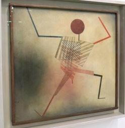 Sauteur, 1923 (aquarelle et plume sur coton)