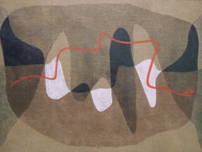 Chemins de serpents, 1934 (aquarelle & crayon)