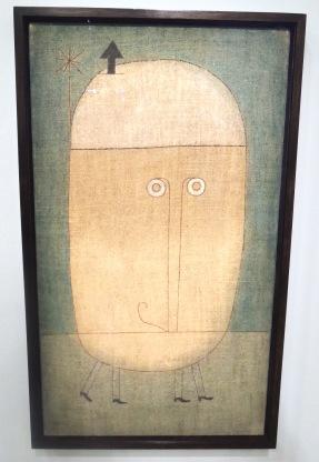 Masque peur, 1932 (huile sur toile). Yeux écarquillés pource personnage pensé peu de temps avant l'arrivée d'Hitler au pouvoir.