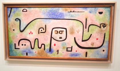 """Insula Dulcamara, 1938. Alors exilé en Suisse (cette """"île douce-amère"""" ?) Klee suit l'horreur de loin... Hitler se trouve peut-être au centre du tableau?"""