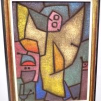Angelus Militans, 1940 (huile et couleur à la colle sur toile). La figure de l'ange l'accompagne dans ses dernières heures de créativité. Paul Klee rejoindra ses anges le 29 juin 1940.