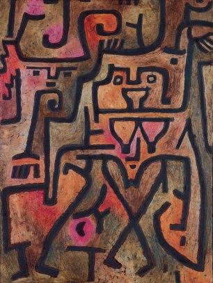 Sorcières de la forêt, 1938 (huile et couleur à la colle sur toile de jute)