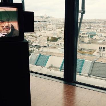 Sur petit écran, un extrait des entretiens Allen Ginsberg/Jean-Jacques Lebel, Paris, 1990