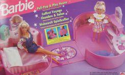 Petite mallette portable pour transporter Barbie et sa petite soeur.