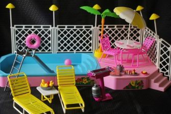 La piscine tropicale !