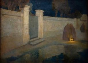 """Roberto Montenegro. Scène de rue """"nocturne"""", 1910"""