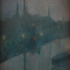 Roberto Montenegro. Ville dans la brume, 1911