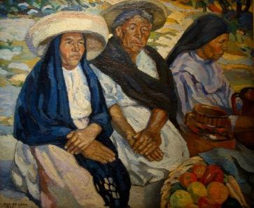 Francisco Diaz de Leon. Indiennes un jour de marché, 1922.