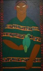Carlos Merida. La fille à la perruche, 1917