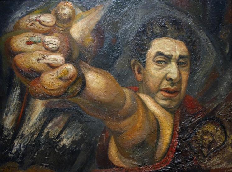 David Alfaro Siqueiros. Autoportrait (Le Grand Colonel), 1945