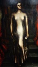 David Alfaro Siqueiros. Portrait de Maria Asunsolo descendant l'escalier