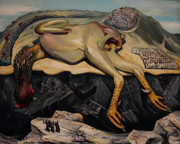 David Alfaro Siqueiros. Mort et funérailles de Cain, 1947