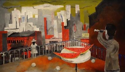Rufino Tamayo. New York depuis la terrasse, 1937