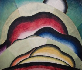 Collines rouges, lac George, Georgia O'Keeffe, 1927