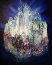 Le château de cristal en mer, Wenzel Hablik, 1914