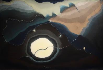 La Lune et moi, Arthur Garfield Dove, 1917