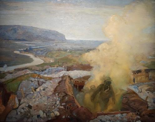 Chambre à gaz à Seaford, Frederick Varley, 1918
