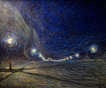 Hornsgatan, la nuit, Eugène Jansson, 1902