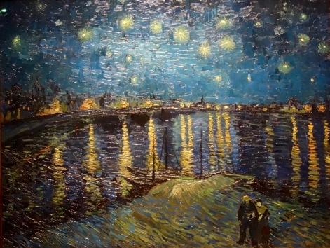 La Nuit étoilée sur le Rhône, Van Gogh, 1889