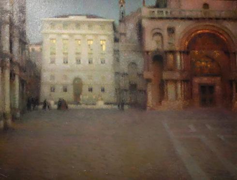 La Place Saint Mar au crépuscule, Henri Le Sidaner, 1907