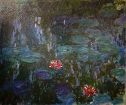 Nymphéas, reflets de saule, Monet, 1916-1919