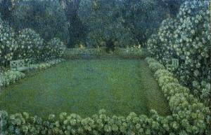 Henri Le Sidaner, Jardin blanc au Crépuscule