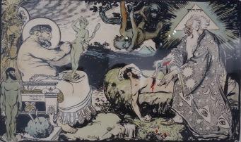 """Création de l'homme, 1904, publié dans l'Assiette au Beurre, """"Religions""""."""