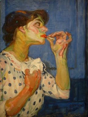 Le rouge à lèvres, 1908