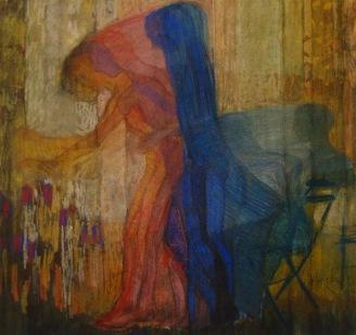 Etude pour femme cueillant des fleurs, 1909
