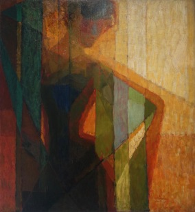 Plans par couleurs (femme dans les triangles), 1910-1911