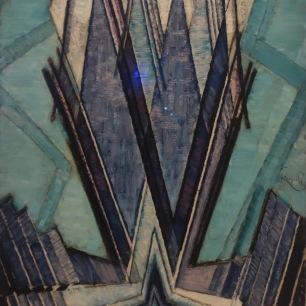 La forme du bleu, 1925